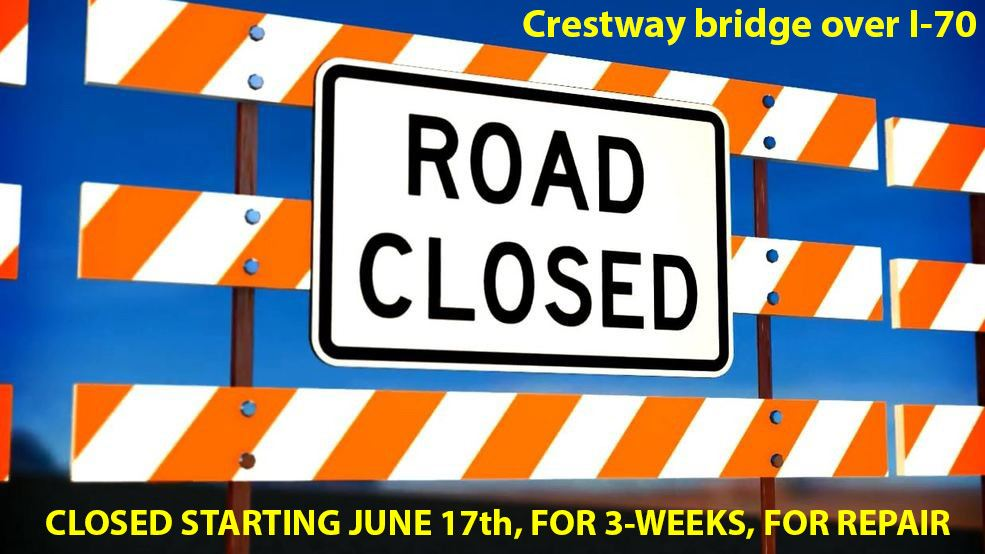 road closed-crestway bridge