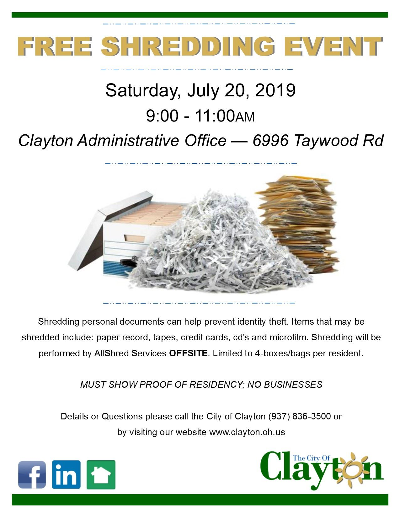 Paper Shredding Flyer2019
