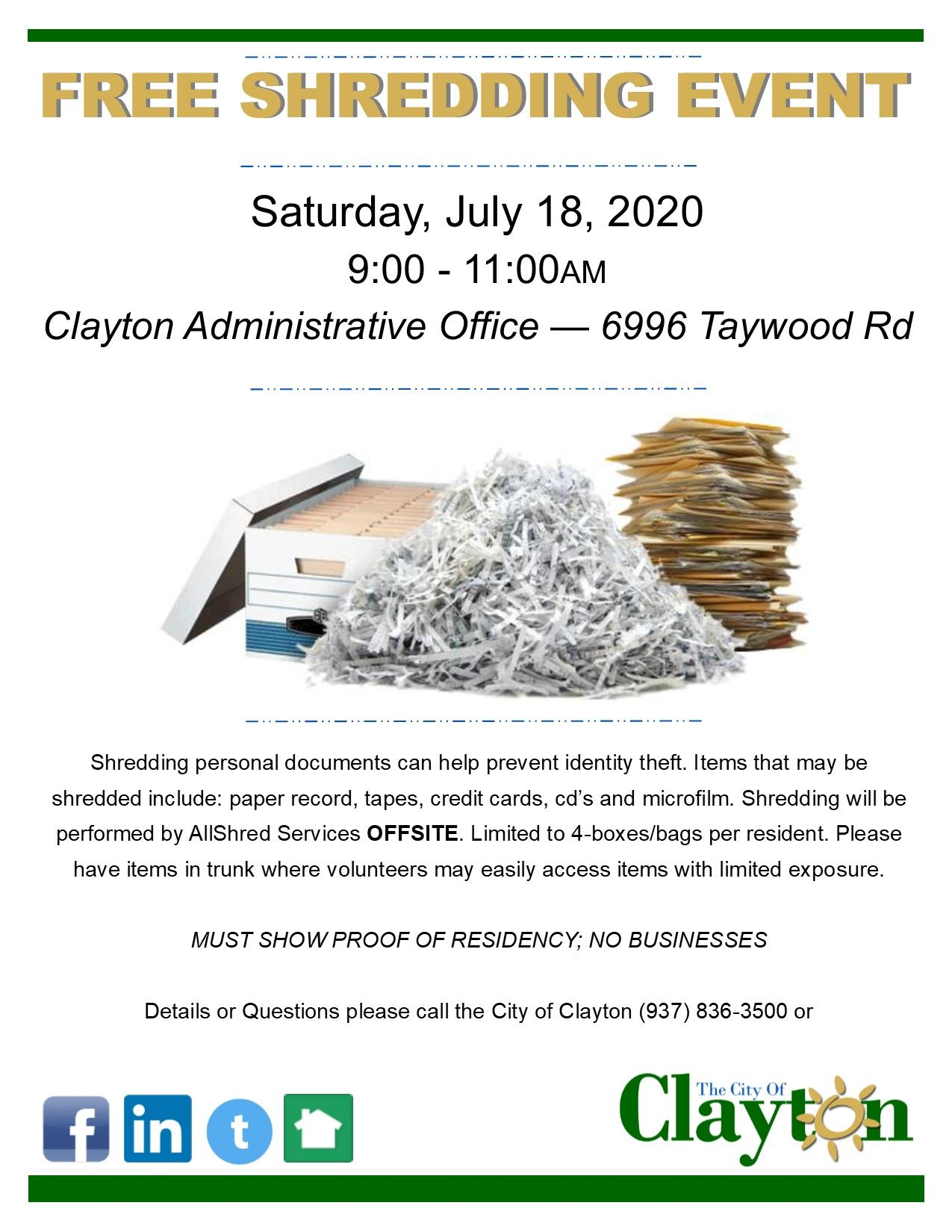 Paper Shredding Flyer2020